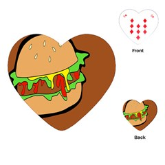 Burger Double Playing Cards (heart)