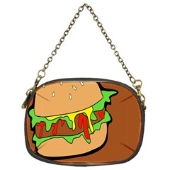 Burger Double Chain Purses (two Sides)