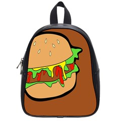 Burger Double School Bags (small)