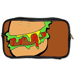 Burger Double Toiletries Bags 2 Side