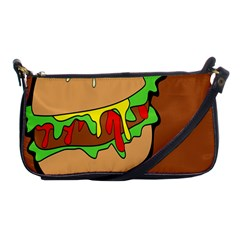 Burger Double Shoulder Clutch Bags