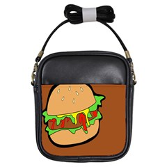 Burger Double Girls Sling Bags