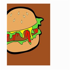 Burger Double Large Garden Flag (two Sides)
