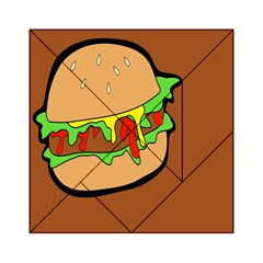 Burger Double Acrylic Tangram Puzzle (6  x 6 )