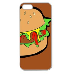 Burger Double Apple Seamless iPhone 5 Case (Clear)