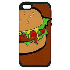 Burger Double Apple iPhone 5 Hardshell Case (PC+Silicone)