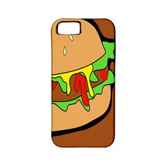 Burger Double Apple iPhone 5 Classic Hardshell Case (PC+Silicone)
