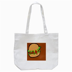 Burger Double Tote Bag (white)