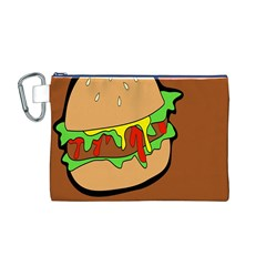 Burger Double Canvas Cosmetic Bag (M)