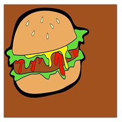 Burger Double Large Satin Scarf (square)