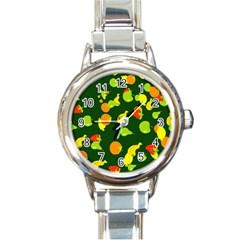 Seamless Tile Background Abstract Round Italian Charm Watch