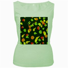 Seamless Tile Background Abstract Women s Green Tank Top