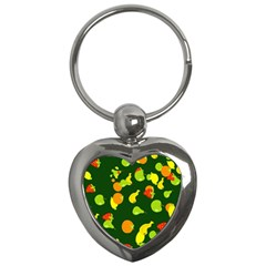 Seamless Tile Background Abstract Key Chains (Heart)