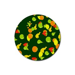Seamless Tile Background Abstract Rubber Coaster (Round)