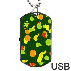 Seamless Tile Background Abstract Dog Tag Usb Flash (one Side)