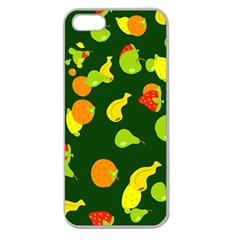 Seamless Tile Background Abstract Apple Seamless iPhone 5 Case (Clear)