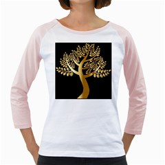 Abstract Art Floral Forest Girly Raglans