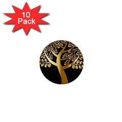 Abstract Art Floral Forest 1  Mini Buttons (10 Pack)