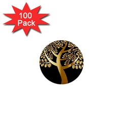 Abstract Art Floral Forest 1  Mini Magnets (100 pack)