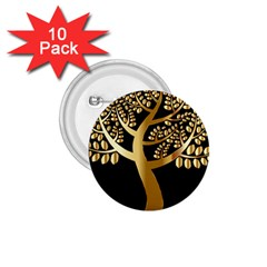 Abstract Art Floral Forest 1.75  Buttons (10 pack)