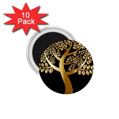 Abstract Art Floral Forest 1.75  Magnets (10 pack)