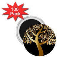 Abstract Art Floral Forest 1 75  Magnets (100 Pack)