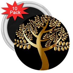 Abstract Art Floral Forest 3  Magnets (10 pack)