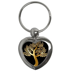 Abstract Art Floral Forest Key Chains (heart)