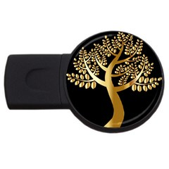 Abstract Art Floral Forest Usb Flash Drive Round (2 Gb)