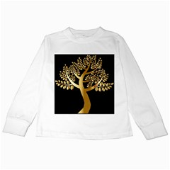 Abstract Art Floral Forest Kids Long Sleeve T Shirts