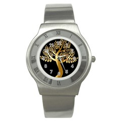 Abstract Art Floral Forest Stainless Steel Watch