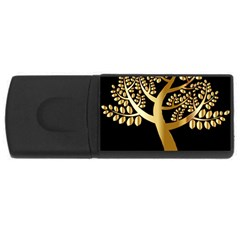 Abstract Art Floral Forest USB Flash Drive Rectangular (4 GB)