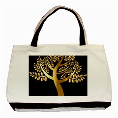Abstract Art Floral Forest Basic Tote Bag (two Sides)