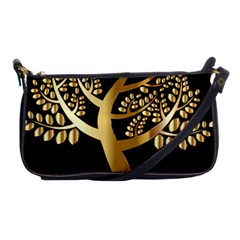 Abstract Art Floral Forest Shoulder Clutch Bags