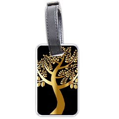 Abstract Art Floral Forest Luggage Tags (one Side)