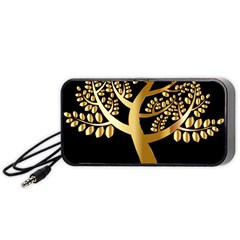 Abstract Art Floral Forest Portable Speaker (Black)