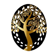 Abstract Art Floral Forest Ornament (oval Filigree)