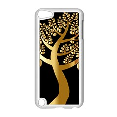 Abstract Art Floral Forest Apple iPod Touch 5 Case (White)