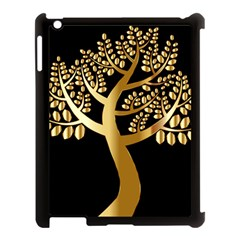 Abstract Art Floral Forest Apple iPad 3/4 Case (Black)