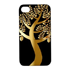 Abstract Art Floral Forest Apple iPhone 4/4S Hardshell Case with Stand