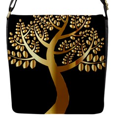 Abstract Art Floral Forest Flap Messenger Bag (S)