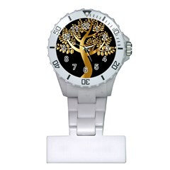 Abstract Art Floral Forest Plastic Nurses Watch