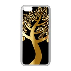 Abstract Art Floral Forest Apple iPhone 5C Seamless Case (White)