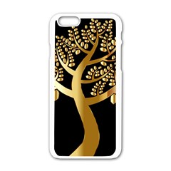 Abstract Art Floral Forest Apple iPhone 6/6S White Enamel Case
