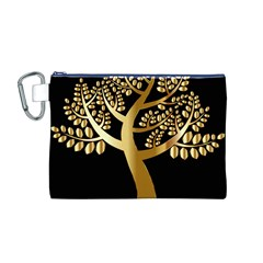 Abstract Art Floral Forest Canvas Cosmetic Bag (M)