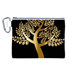 Abstract Art Floral Forest Canvas Cosmetic Bag (l)