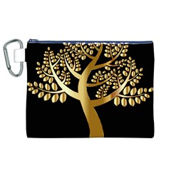 Abstract Art Floral Forest Canvas Cosmetic Bag (XL)
