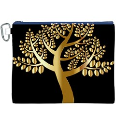 Abstract Art Floral Forest Canvas Cosmetic Bag (xxxl)