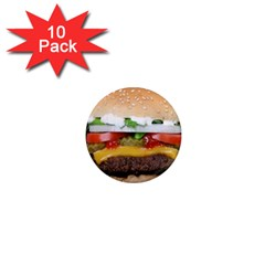 Abstract Barbeque Bbq Beauty Beef 1  Mini Magnet (10 Pack)