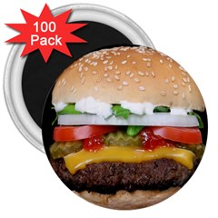 Abstract Barbeque Bbq Beauty Beef 3  Magnets (100 Pack)